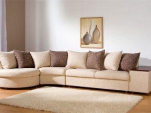 Перетяжка углового дивана на дому в Электростали